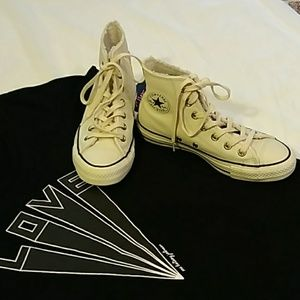Converse leather high top tennis shoes